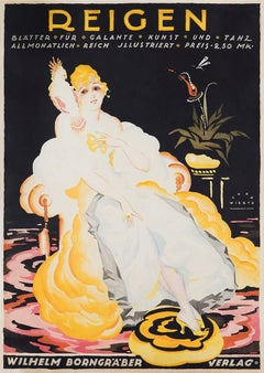 Reigen, 1919 by Jupp Wiertz, Original Art Deco German advertisement poster