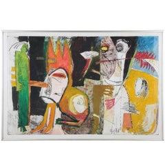 Jureaka Mixed-Media Painting on Paper