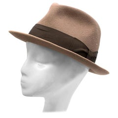 Juretic Maria Gorizia Brown Rabbit Felt Fedora Hat