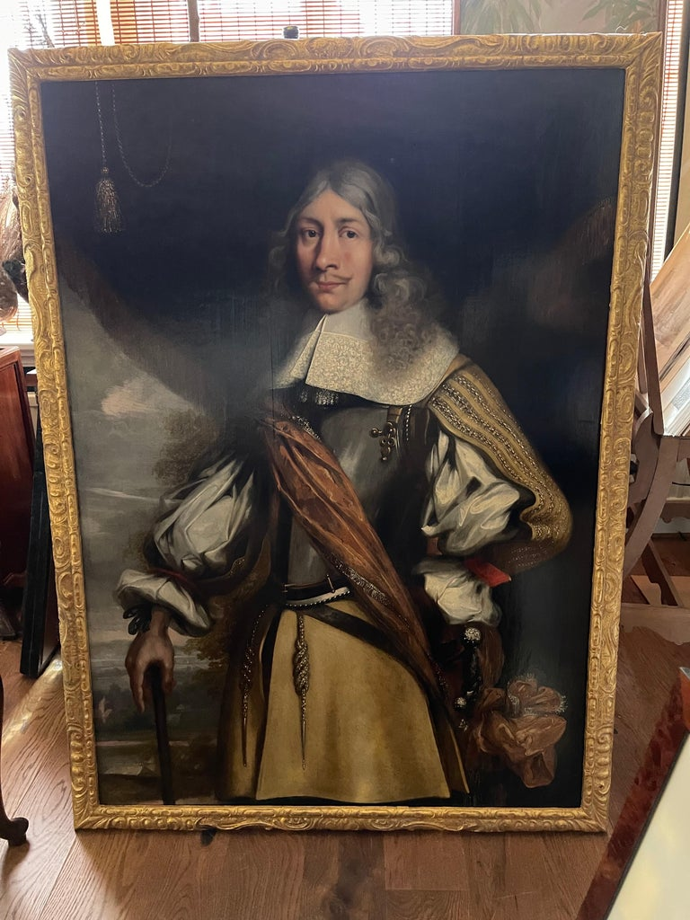 Portrait of VOC Governor Rijcklof van Goens (1619-1682) in 1656 , 37 yrs of age - Painting by Jürgen Ovens
