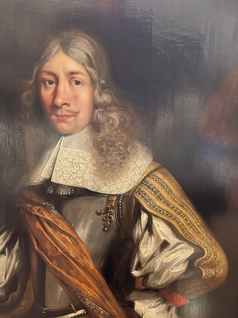 Portrait of VOC Governor Rijcklof van Goens (1619-1682) in 1656 , 37 yrs of age - Old Masters Painting by Jürgen Ovens