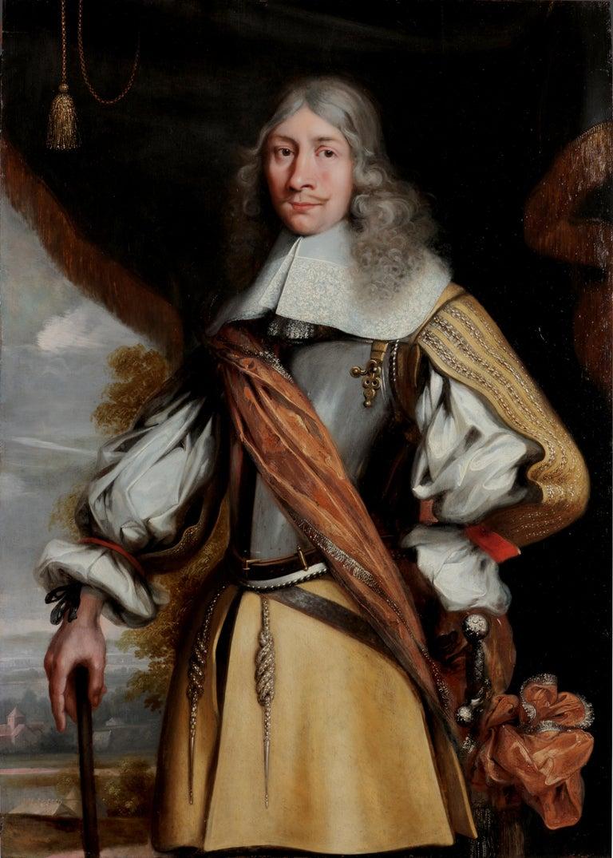 Jürgen Ovens Portrait Painting - Portrait of VOC Governor Rijcklof van Goens (1619-1682) in 1656 , 37 yrs of age