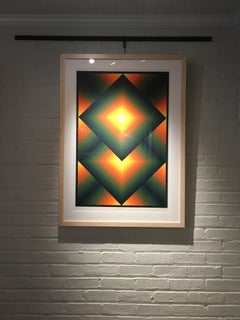 """1960's Contemporary Print, """"Top Square"""" by Jurgen Peters"""