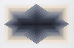 Spur, OP Art Silkscreen by Jurgen Peters