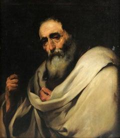 Saint Bartholomew, Old Master, Oil Print, Ribera, Figurative Art, Spanish Art