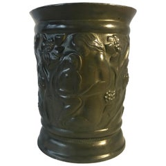 Just Andersen Danish Art Deco 1930s Samson and Delilah Disko Metal Vase #159