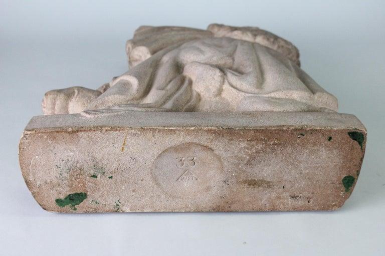 Just Andersen, Denmark, 1940s, Sandstone Sculpture of Samson and the Lion For Sale 10