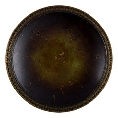 Just Andersen, Denmark, Art Deco Dish / Bowl in Bronze, 1930/40's