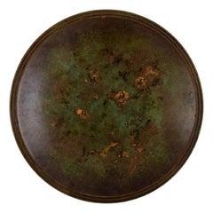 Just Andersen, Denmark, Art Deco Dish / Bowl in Bronze, 1940/50's