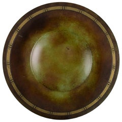 Just Andersen, Denmark, Art Deco Dish / Bowl in Metal, 1940/50's