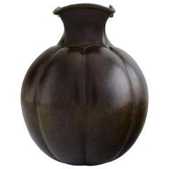 Just Andersen, Denmark, Art Deco Vase in Disko Metal, 1940s