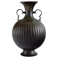 Just Andersen, Denmark, Rare Vase in Bronze, 1930s