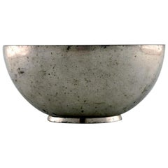 Just Andersen, Early Bowl in Pewter, 1930s