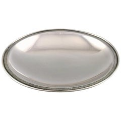 Just Andersen, Rare Dish of Sterling Silver, 1940s