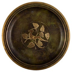 Just Andersen Style, Art Deco Bronze Dish / Bowl, 1940s