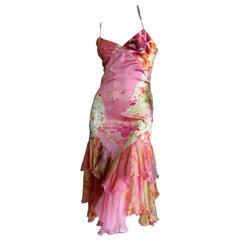Just Cavalli by Roberto Cavalli Pink Silk Cocktail Dress