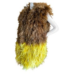 Just Cavalli by Roberto Cavalli Sensational Ombre Feather Vest New with Tags