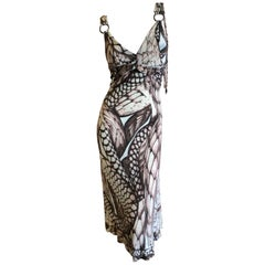 Just Cavalli by Roberto Cavalli Sweet Reptile Print Dress Size 44
