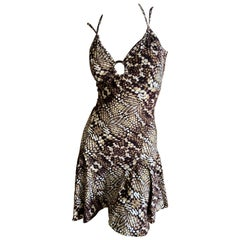 Just Cavalli by Roberto Cavalli Sweet Reptile Print Mini Dress