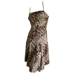 Just Cavalli by Roberto Cavalli Sweet Reptile Print Skater Skirt Mini Dress