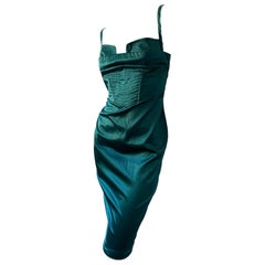 Just Cavalli Emerald Green Cocktail Dress by Roberto Cavalli