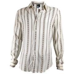 Just Cavalli Mens Floral Tapestry Brocade Shirt