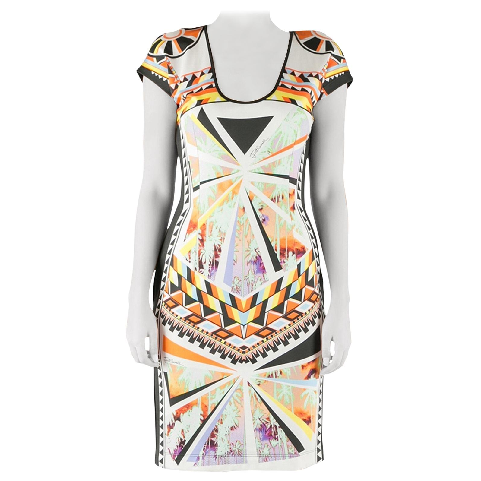 Just Cavalli Multi-Color Sleeveless Womens Bodycon Stretch Dress US S IT 40