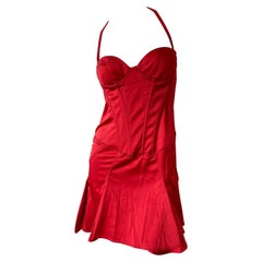 Just Cavalli Red Corset Cocktail Dress by Roberto Cavalli