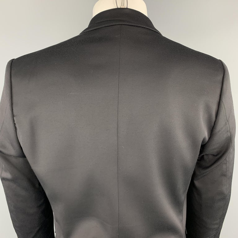 JUST CAVALLI Size 40 Black Double Breasted Notch Lapel Sport Coat For Sale 2