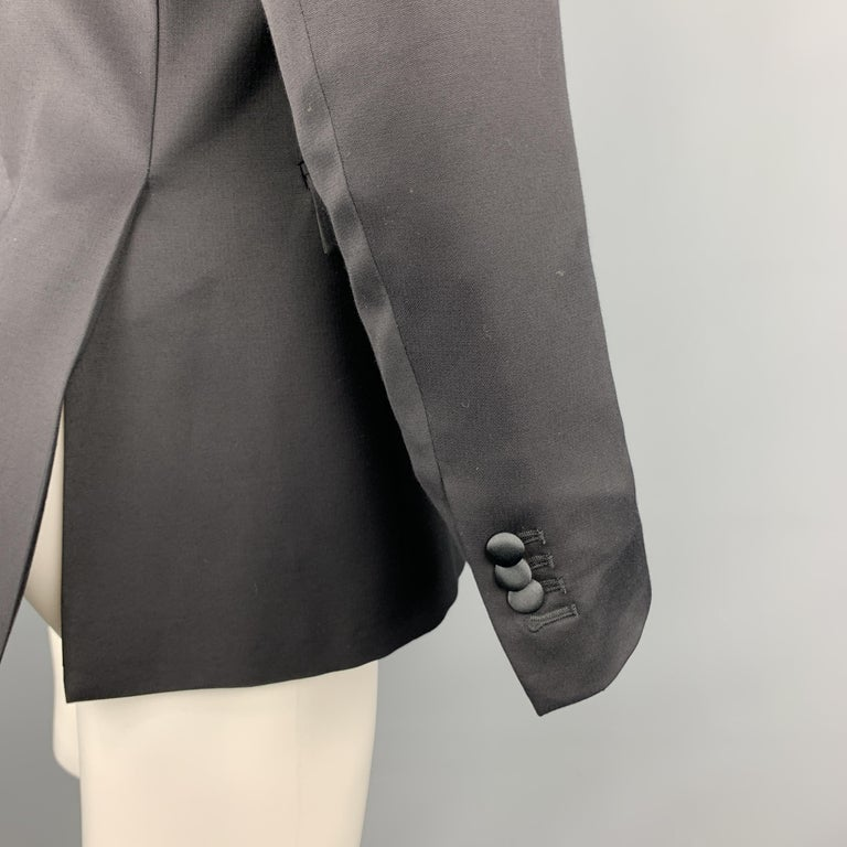 JUST CAVALLI Size 40 Black Double Breasted Notch Lapel Sport Coat For Sale 3