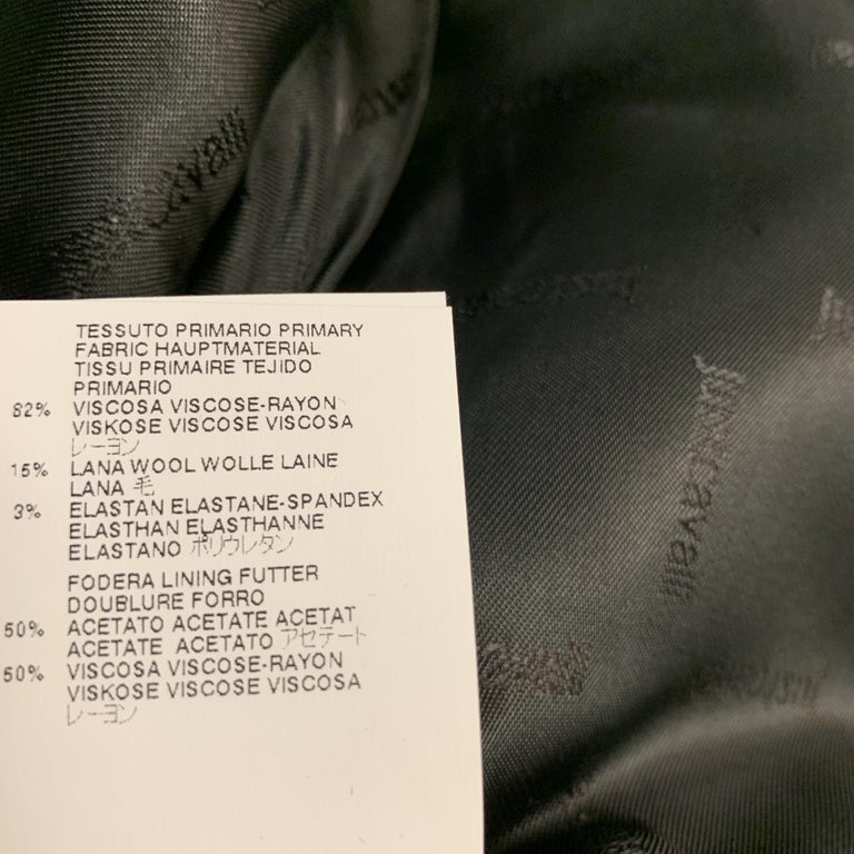 JUST CAVALLI Size 40 Black Double Breasted Notch Lapel Sport Coat For Sale 4