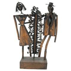 Just Married, Robert Jajesnica Copper Sculpture, 1970s