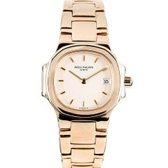 Patek Philippe Ladies Yellow Gold Nautilus Quartz Wristwatch Ref 4700