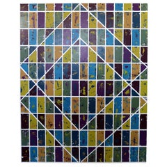 Justin Bean Confluence Geometric Abstact Acrylic Painting