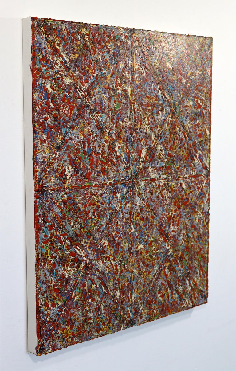 Contemporary Justin Bean Cosmogony Geometric Abstract Acrylic Painting For Sale