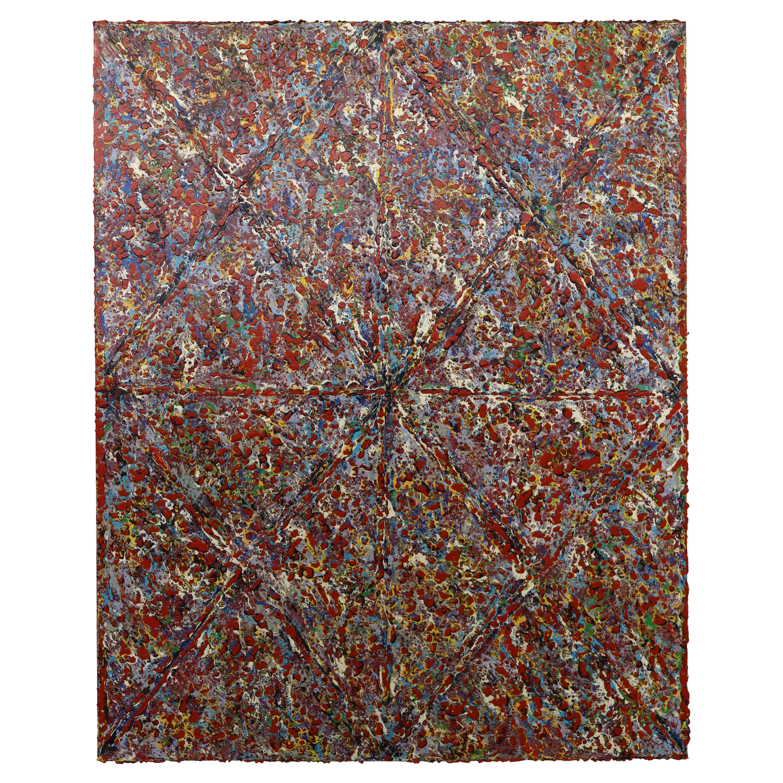 Justin Bean Cosmogony Geometric Abstract Acrylic Painting