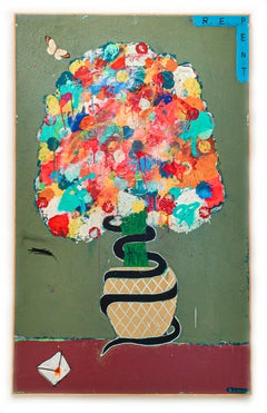 All Apologies, 2020  Mixed Media on Canvas  48 x 30 in.