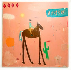 High Horse, Low Remorse, 2020  Mixed Media on Canvas  60 x 48 in.