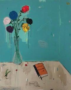 "JUSTIN LYONS ""The Art of Pruning, Vol. 2"" bright contemporary floral still life"