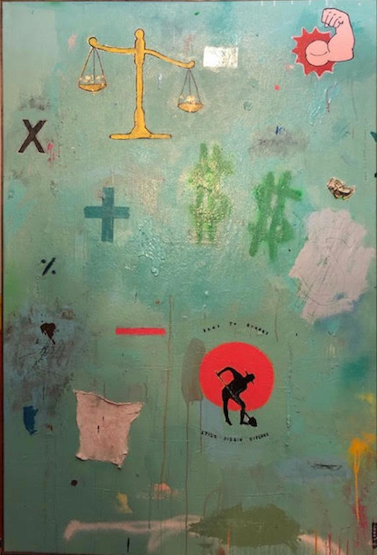 Justin Lyons, Wait Til I Get My Money Right - Painting by Justin Lyons
