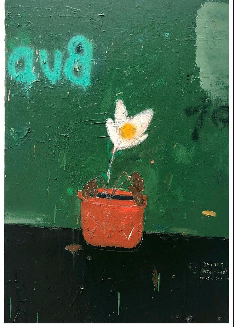 Justin Lyons Still-Life Painting - Late Bloomer