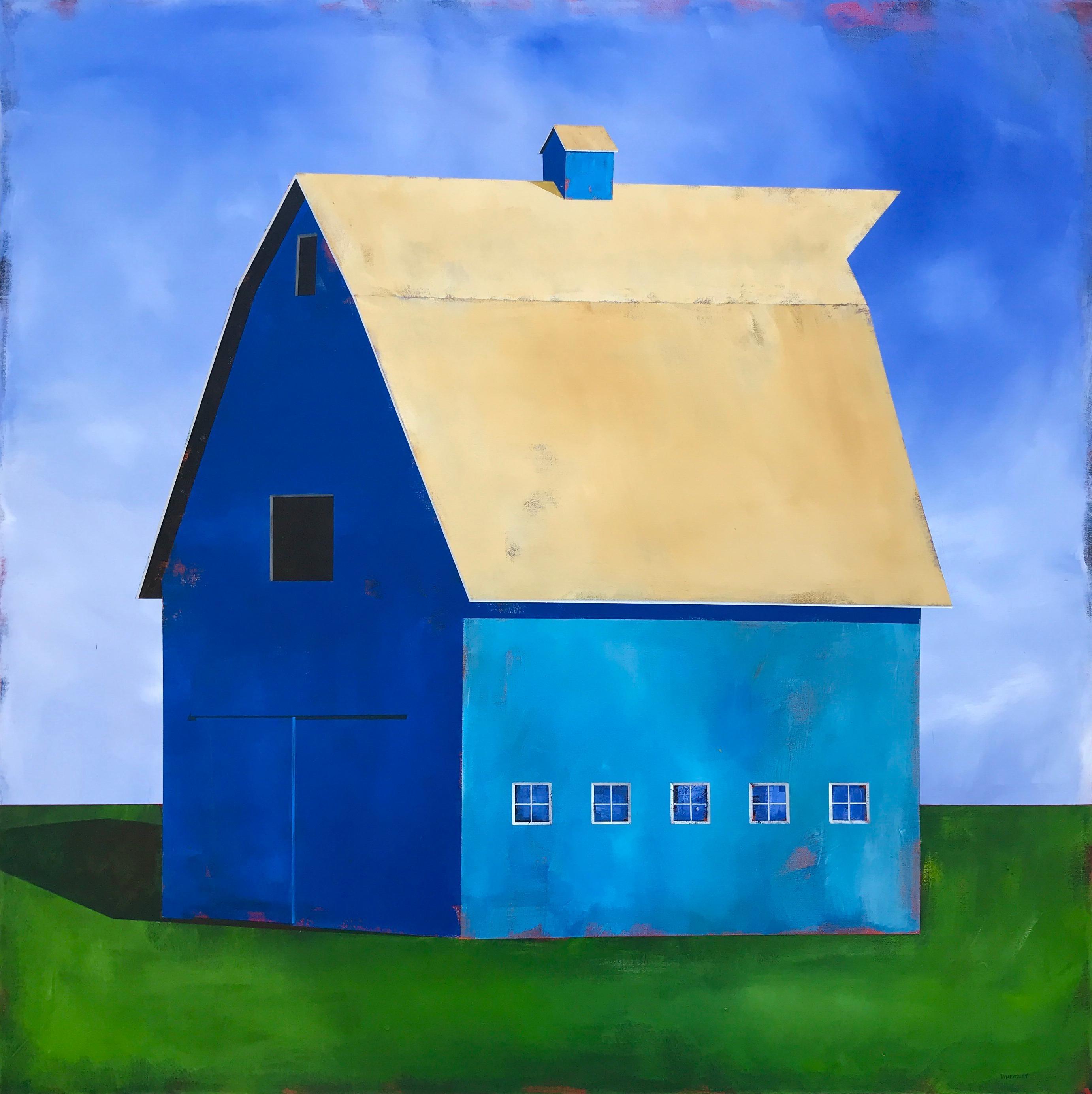 """Blue #5"", Acrylic Painting"