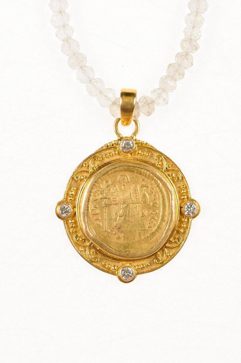 collection steele coin pendant gold roman danielle with product necklace