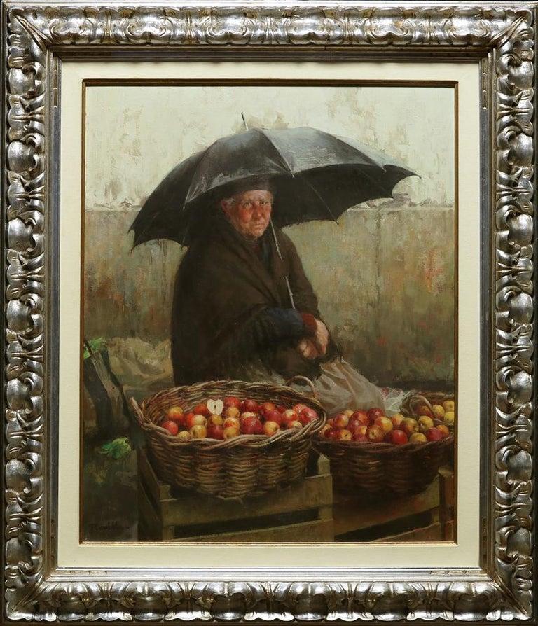 Justo Revilla Figurative Painting - Apple Harvest