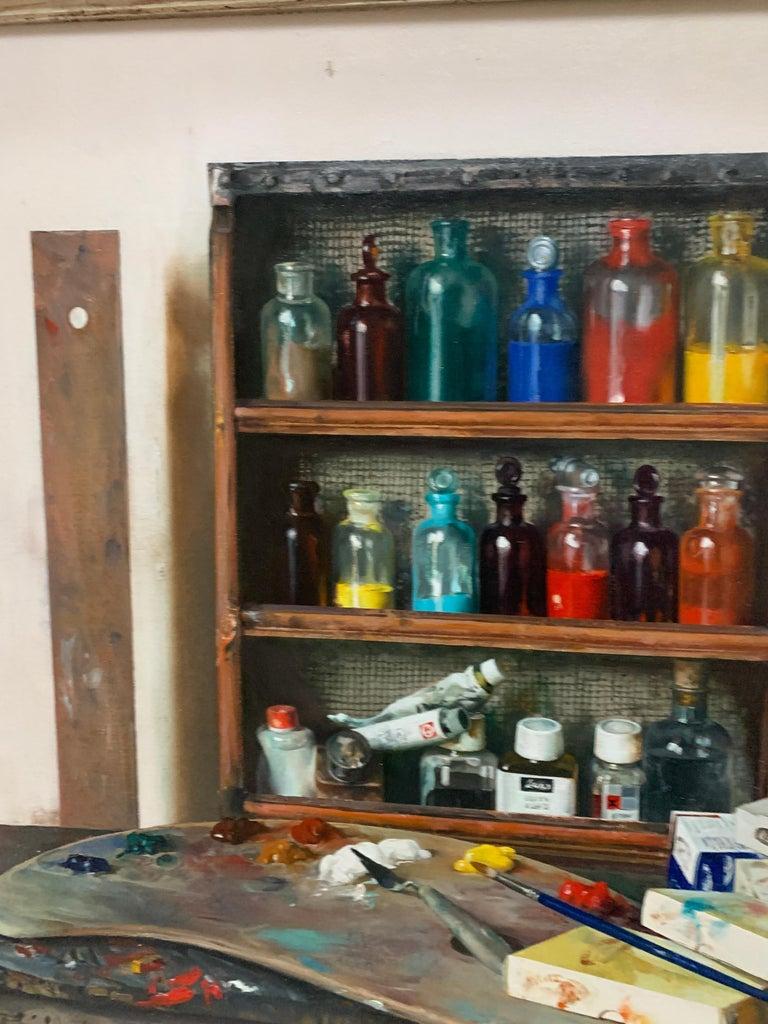 Artist Materials on Shelves For Sale 1