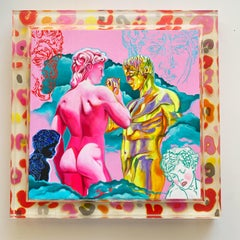 DOMINANDI - bold, colorful pink and gold nude male figures