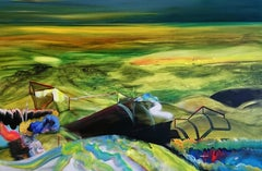 What A Peculiar State We're In... -  Modern, Expressionism, Landscape Painting