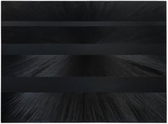 BLACK XI - Contemporary Abstract Oil Painting, Minimalistic, Color Field