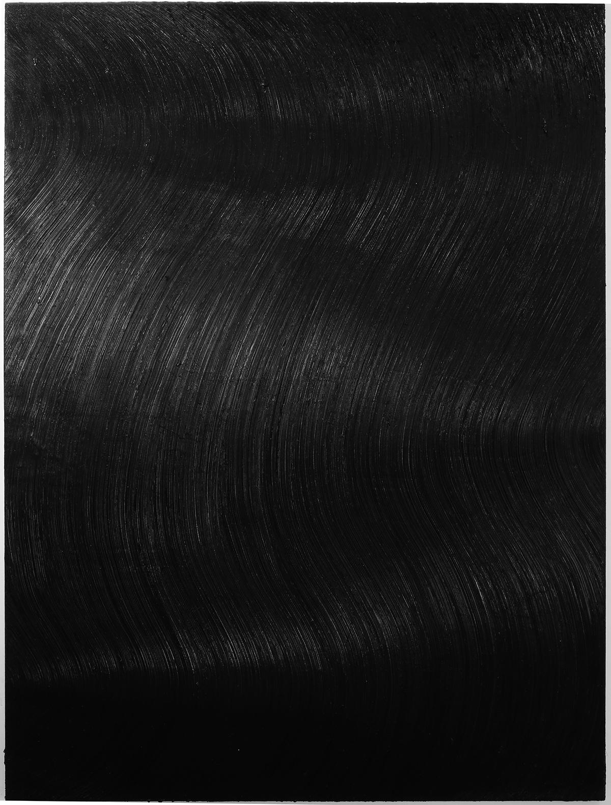 BLACK XIV - Large Format Painting, Modern Abstract Oil Painting, Minimal Art