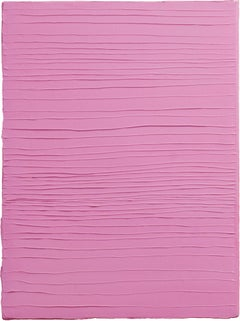 PINK - Contemporary Abstract Oil Painting, Minimalistic, Color Field
